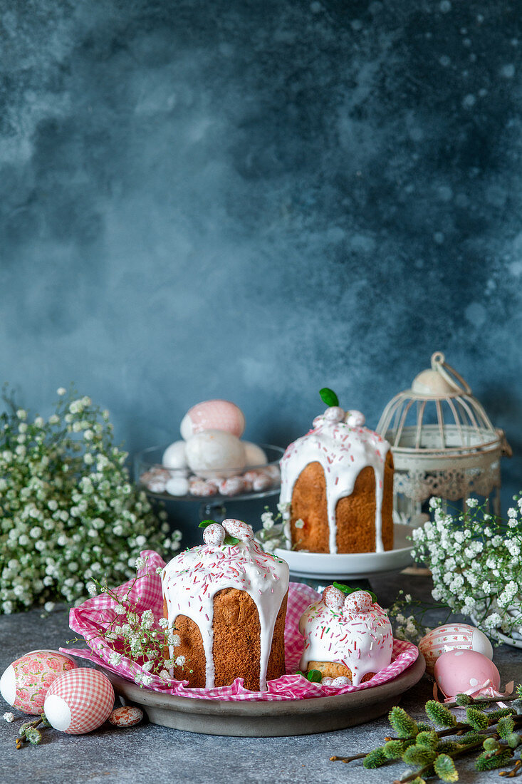 Traditional Easter cakes kulich (Russia)