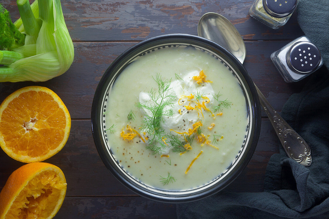 Fennel and orange soup