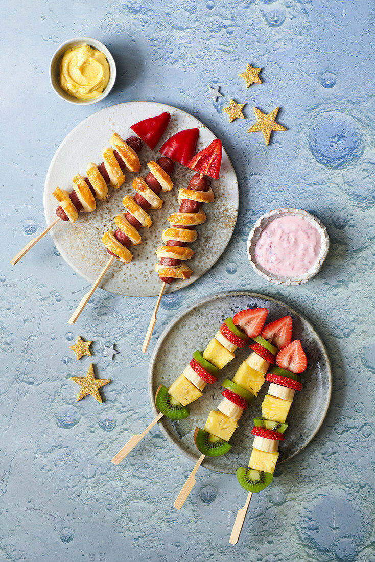 Rockets kebabs for a Moon Landing party