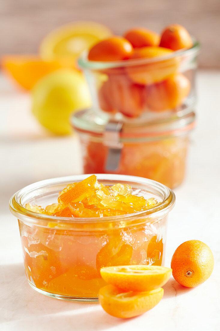 A jar of exotic kumquat jam