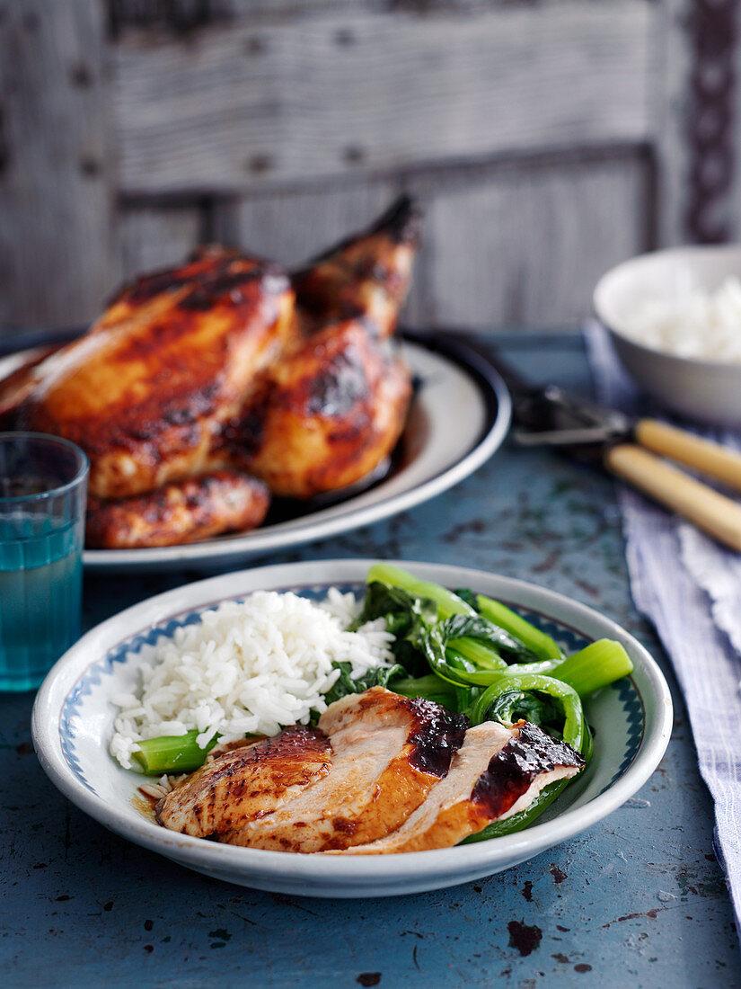 Cantonese style roast chicken (China)