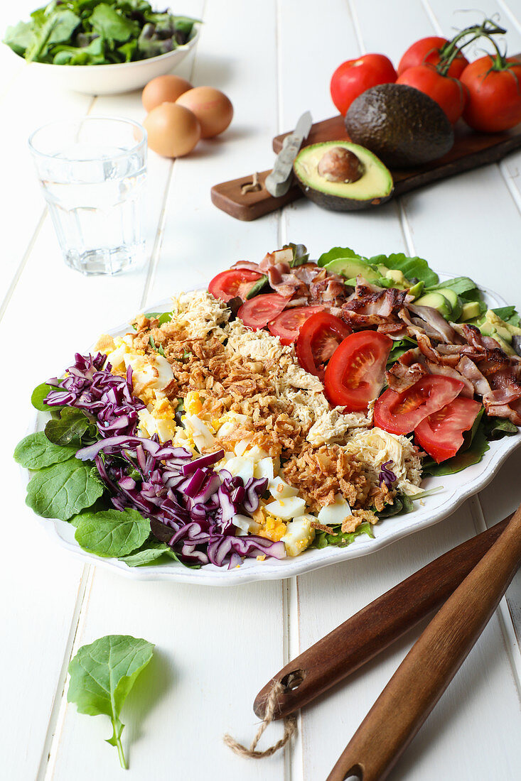 Vegetables with meat and cheese