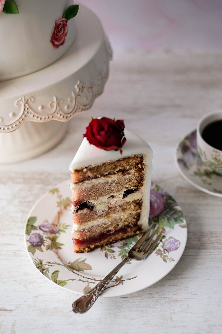 A festive sour cherry cake for Valentine's Day