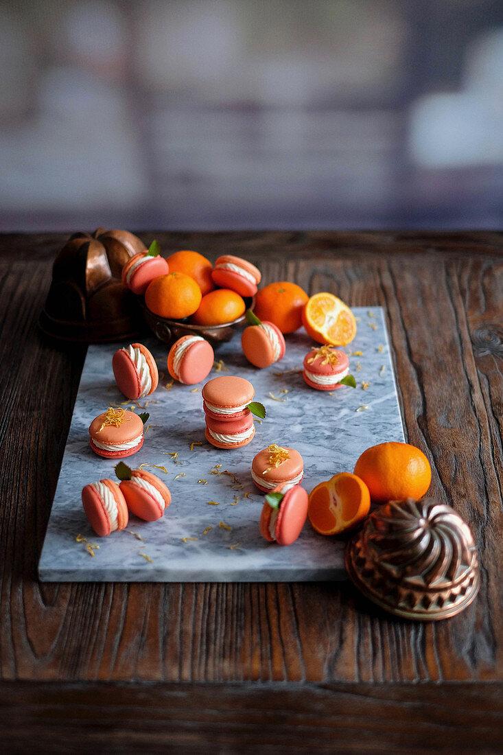 Mandarin macaroons