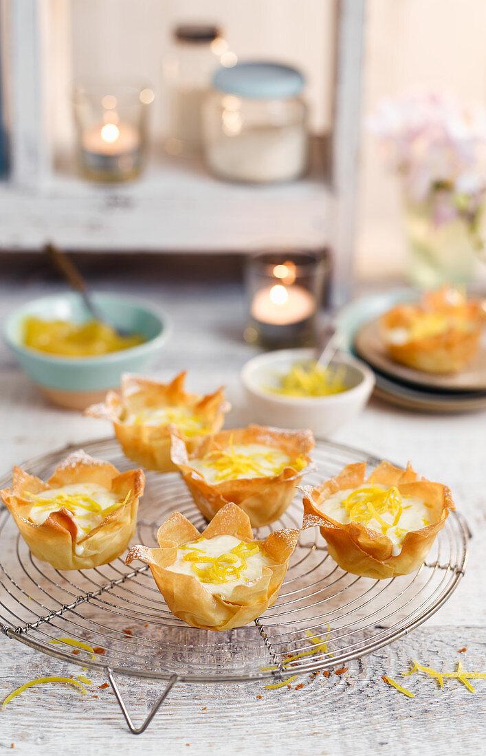Filo Lemon Tarts