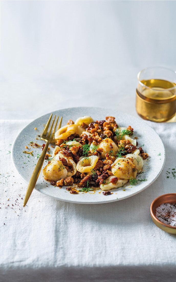 Orecchiette with Lincolnshire sausage