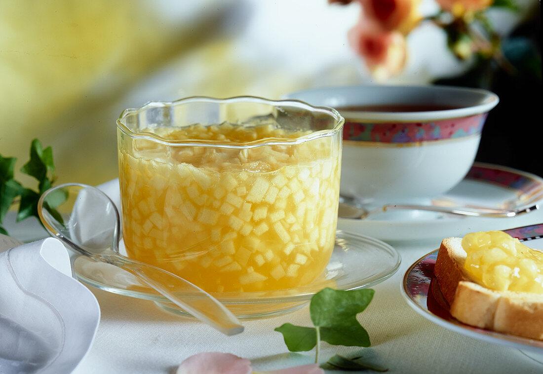 Pineapple jam for breakfast