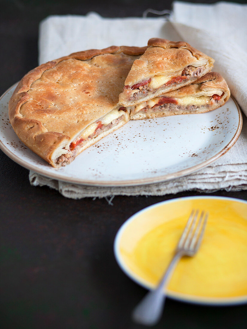 Fucazza de carnuale - filled pastry for Carnival (Italy)