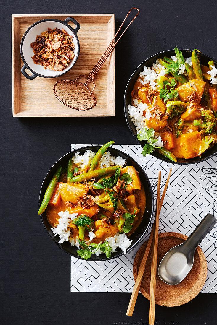 Thai chicken pumpkin curry