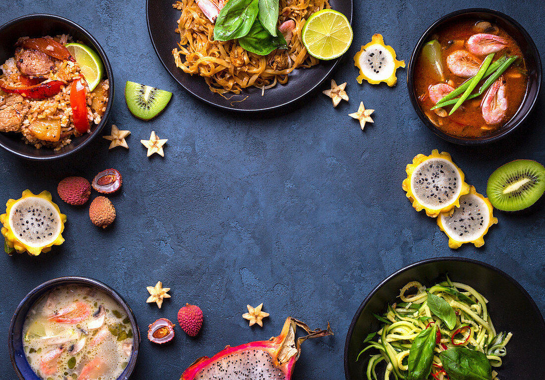 Traditional dishes of Thai cuisine