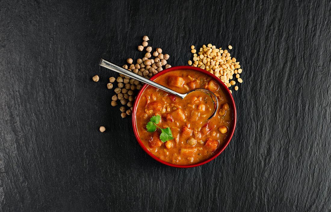 Spicy Lentil Vegetable Soup