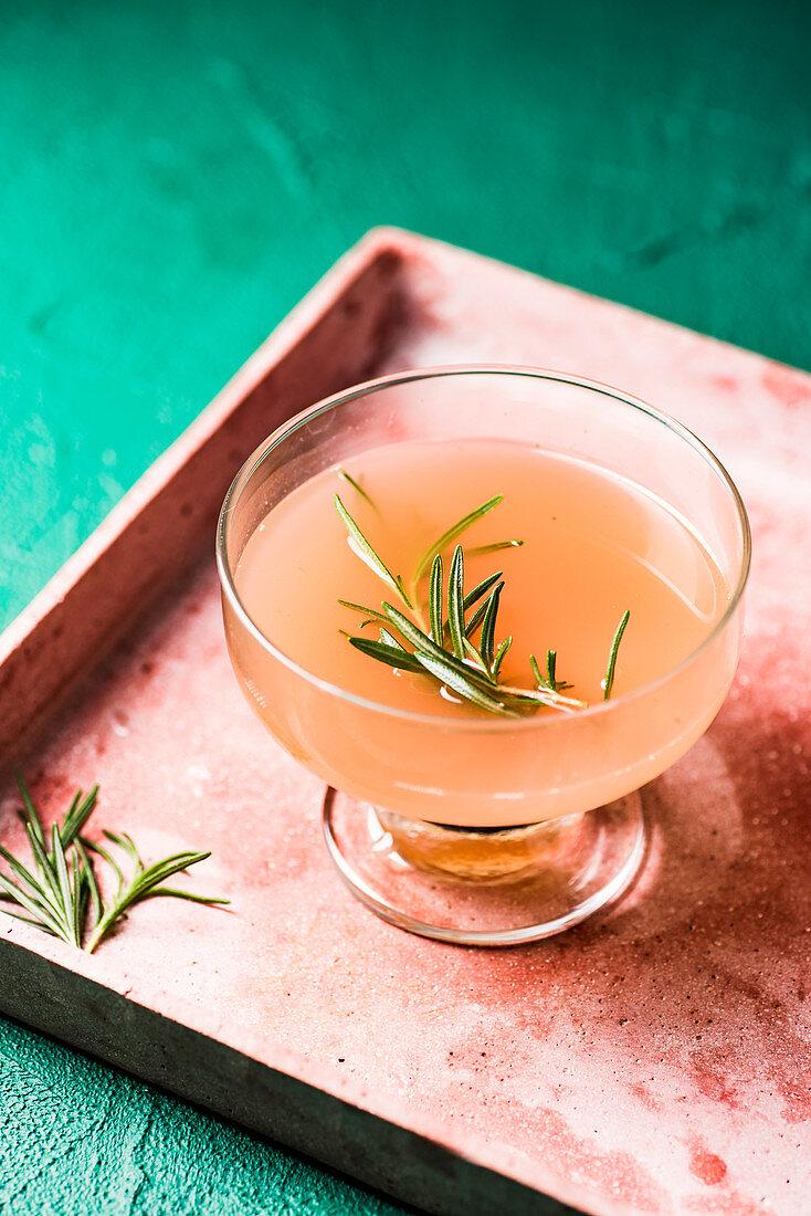 Pink grapefruit lemonade