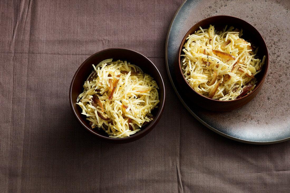 Oriental parsley root coleslaw
