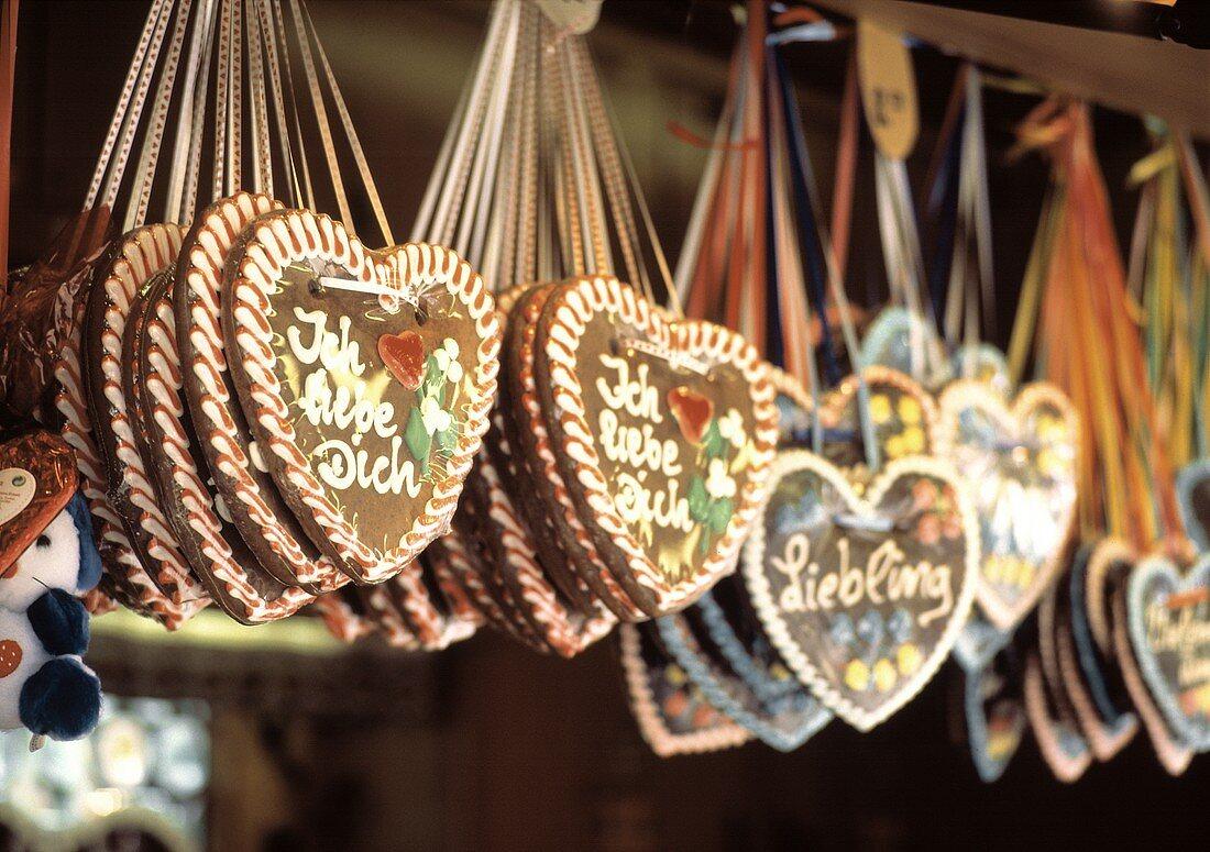 Gingerbread Hearts at a Stall at the May Fair