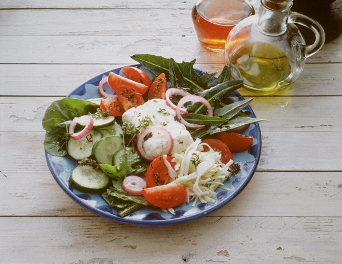 Cretan peasant's salad