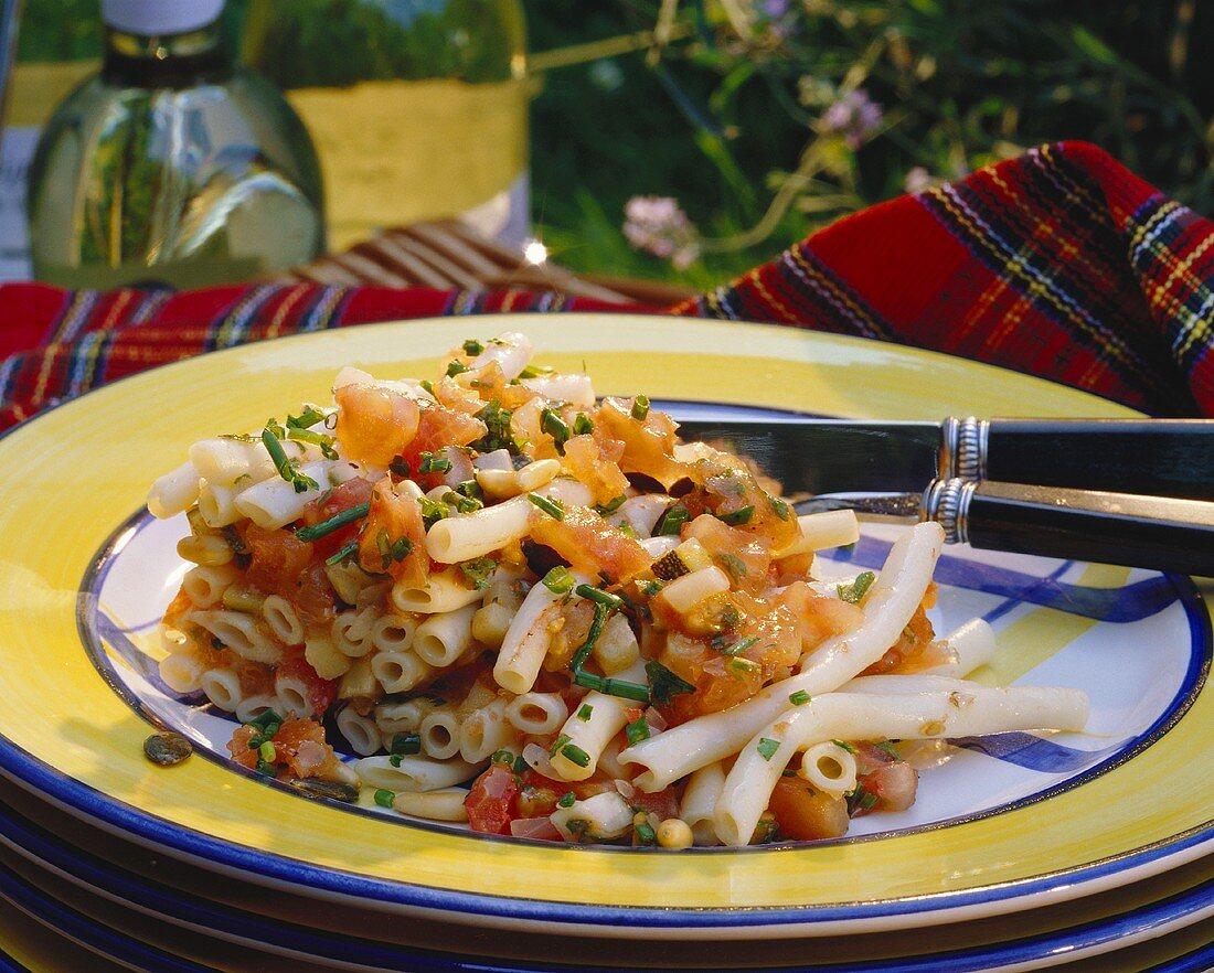 Cold macaroni & vegetable casserole (salad)
