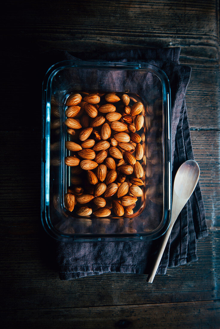 Water Saoked Almonds