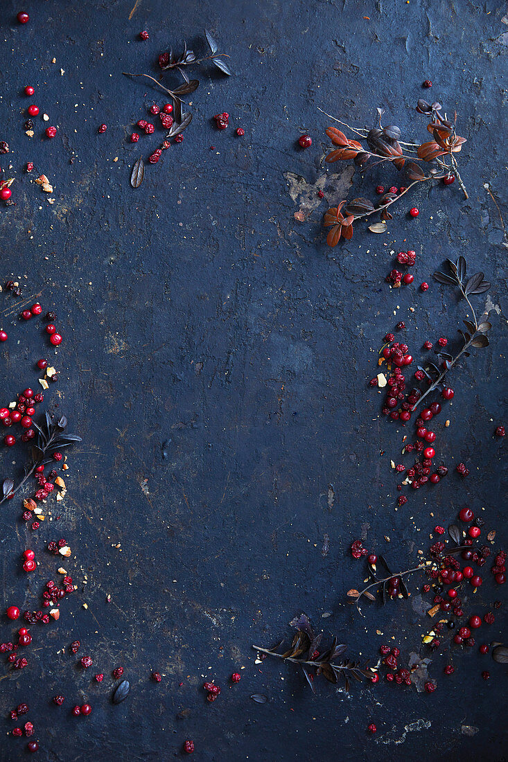 Cranberries with branches