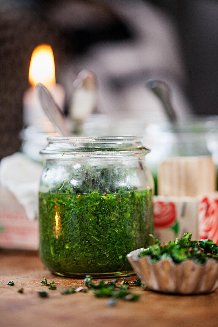 Winter kale soup