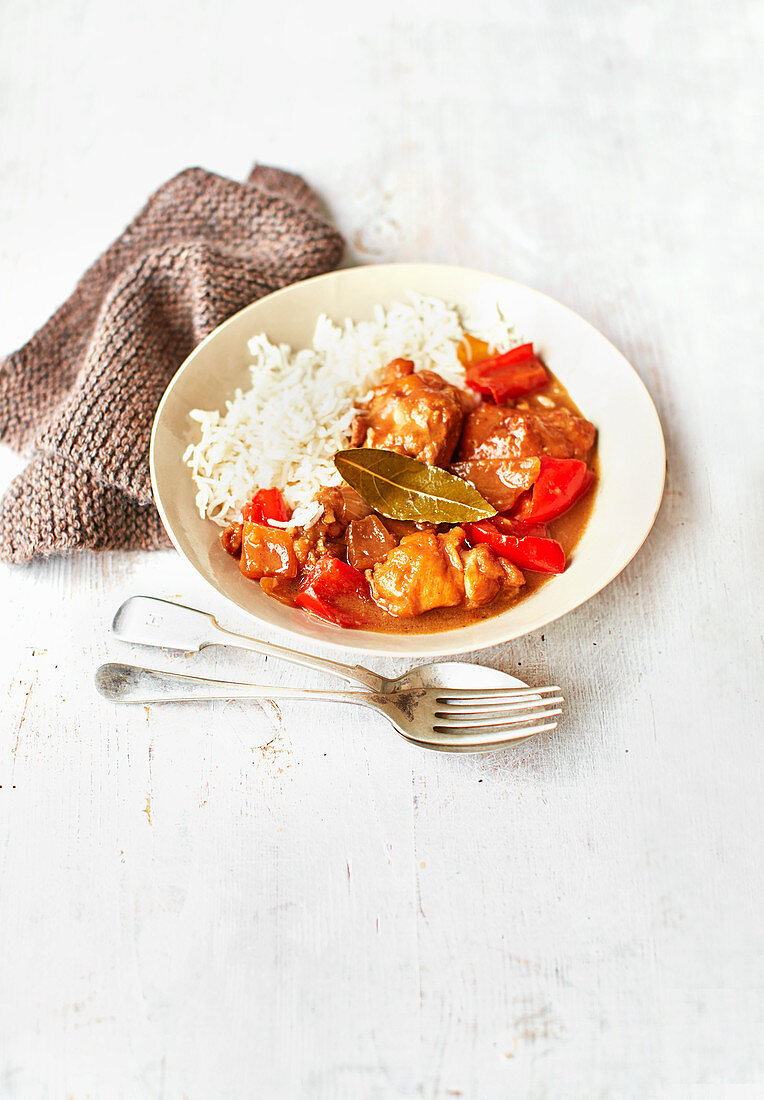 Sweet and sour chicken abodo