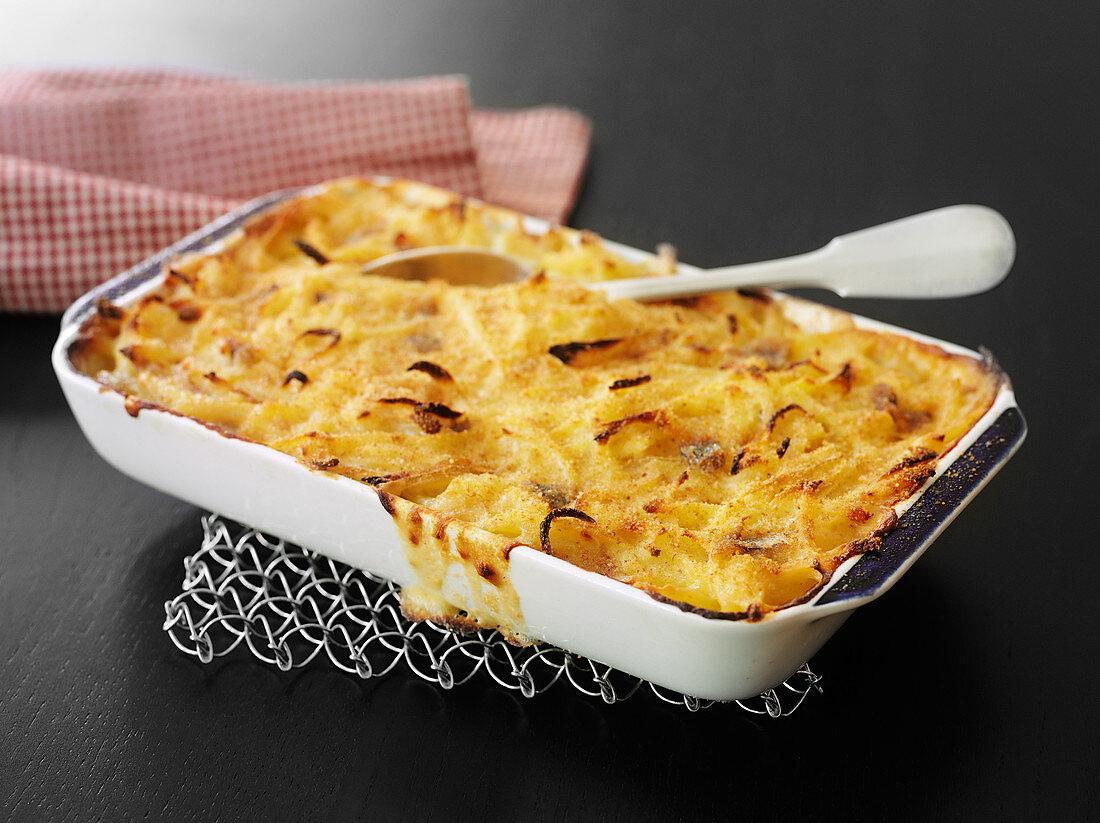 Jansson's Temptation (Swedish potato and anchovy casserole)