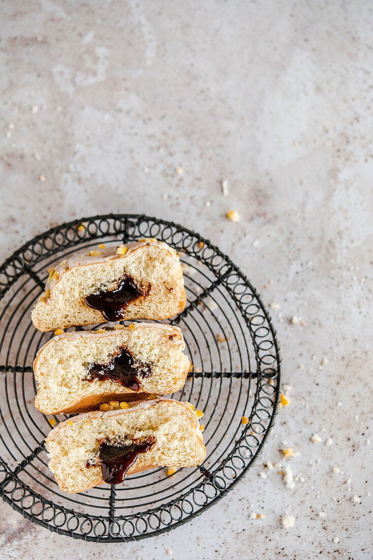 Donuts with plum jam