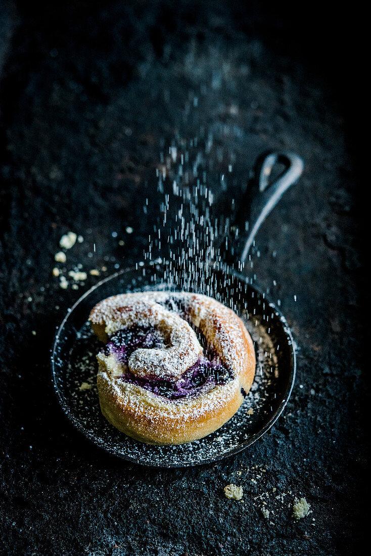 Blueberry bun
