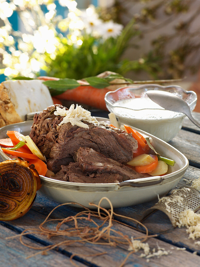 Tafelspitz (Boiled beef) with horseradish