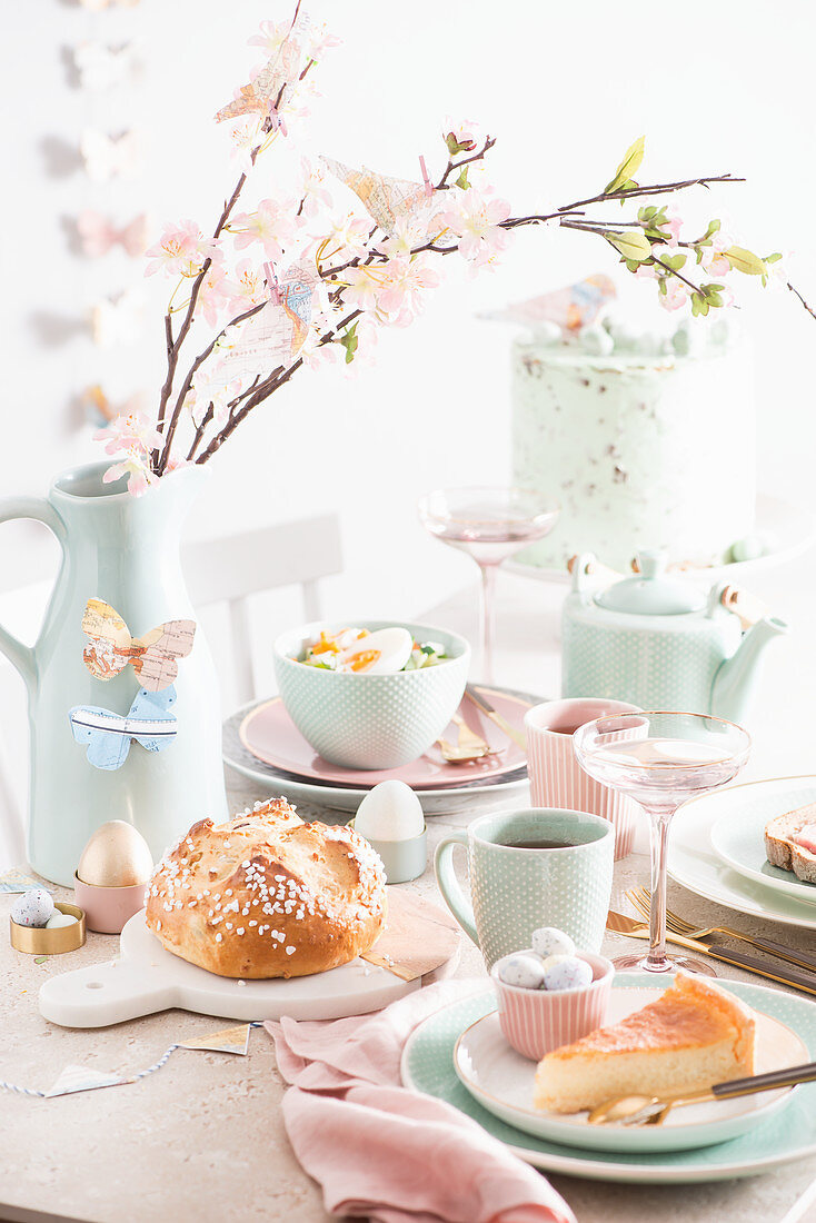 An Easter brunch with sweet and savoury dishes