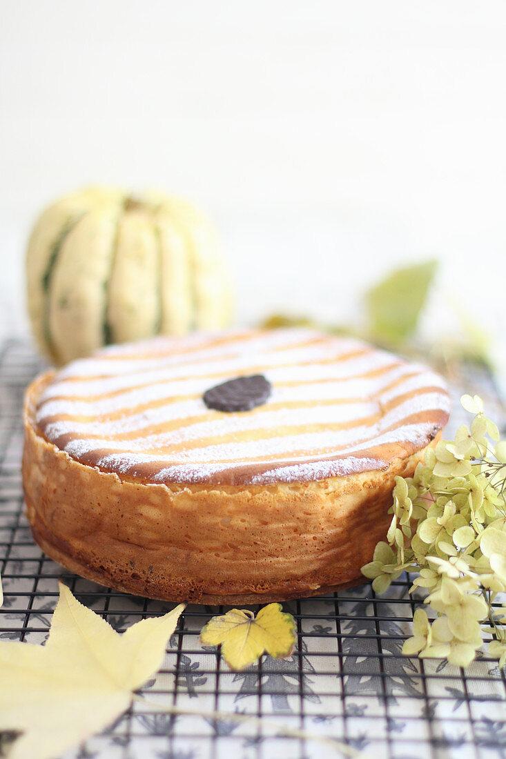 An autumnal cheesecake