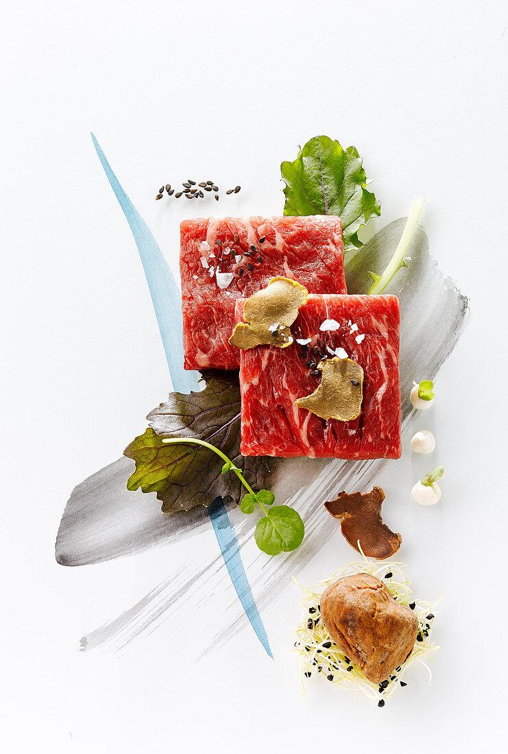 Kobe beef with truffles