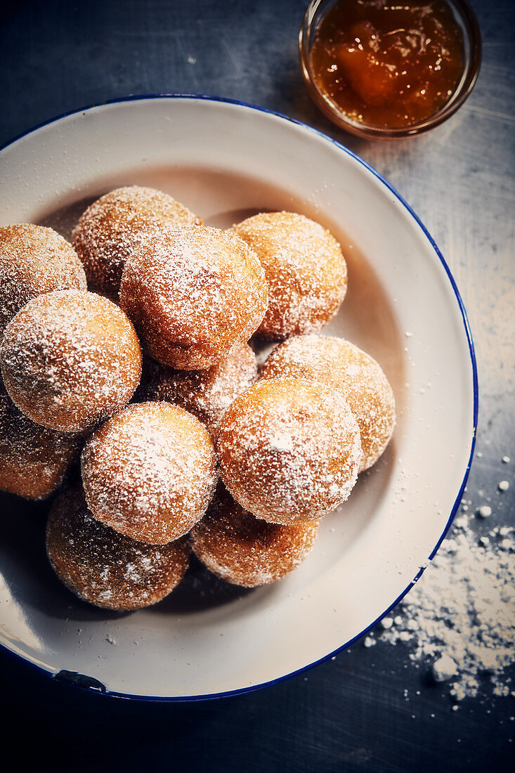 Mini jam doughnuts