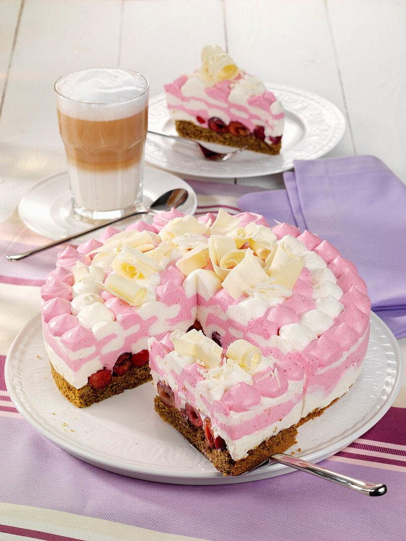 Cherry cream cake