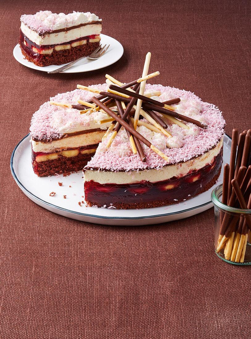 An exotic mikado cake