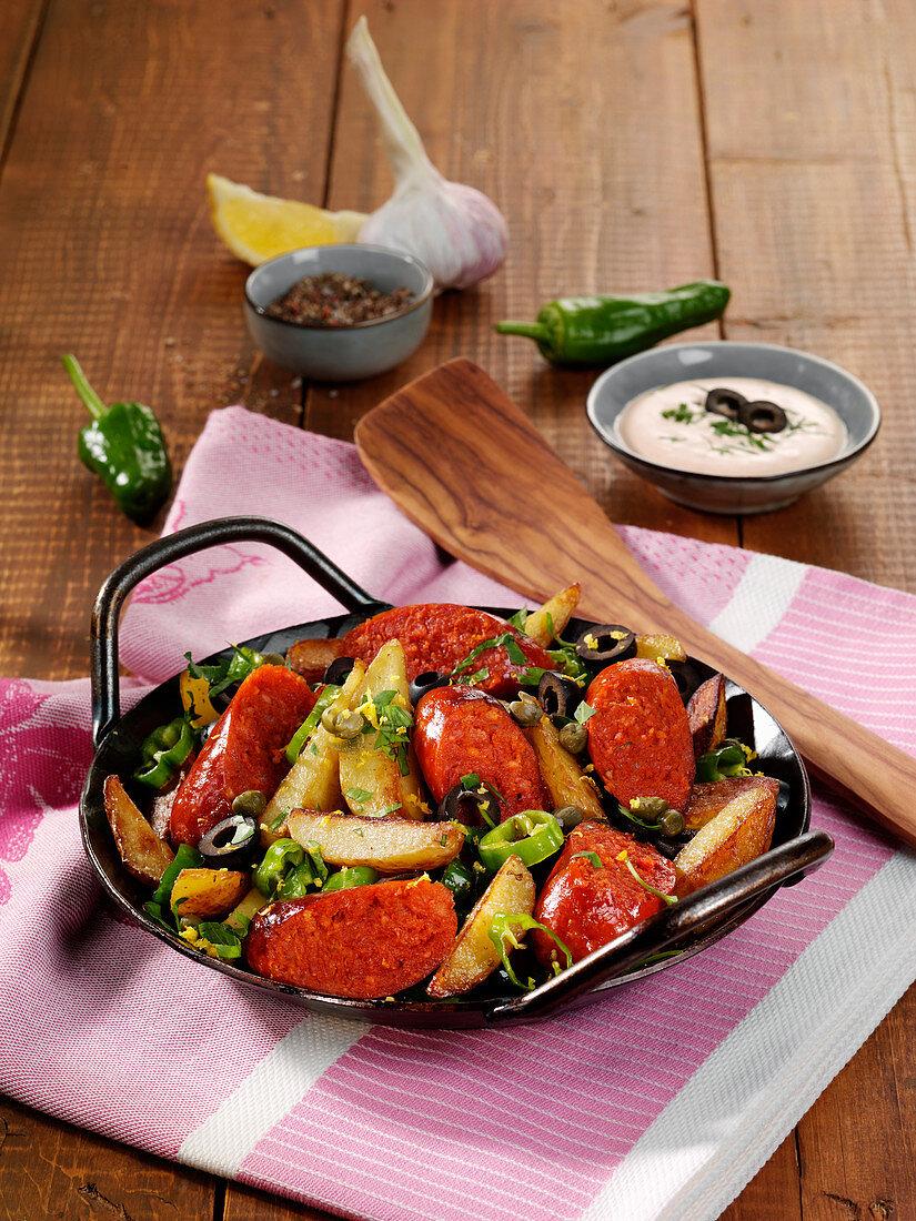 Pfannen-Patatas mit Chorizo und Paprika