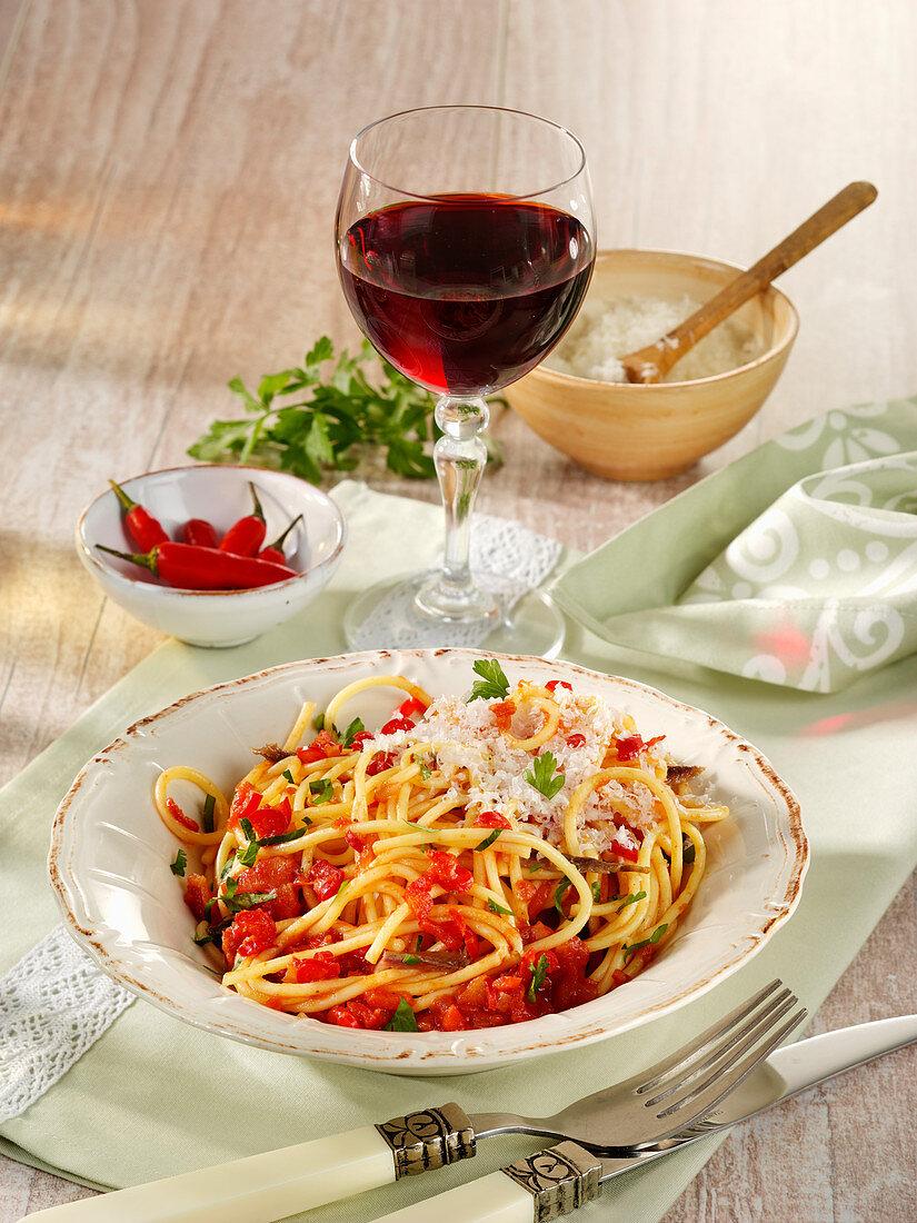 Spaghetti all arrabiata