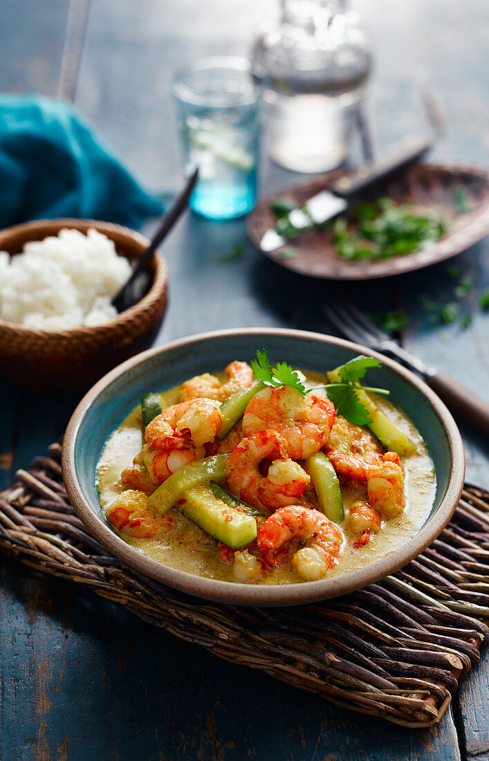 Chiang Mai Prawn And Courgette Curry