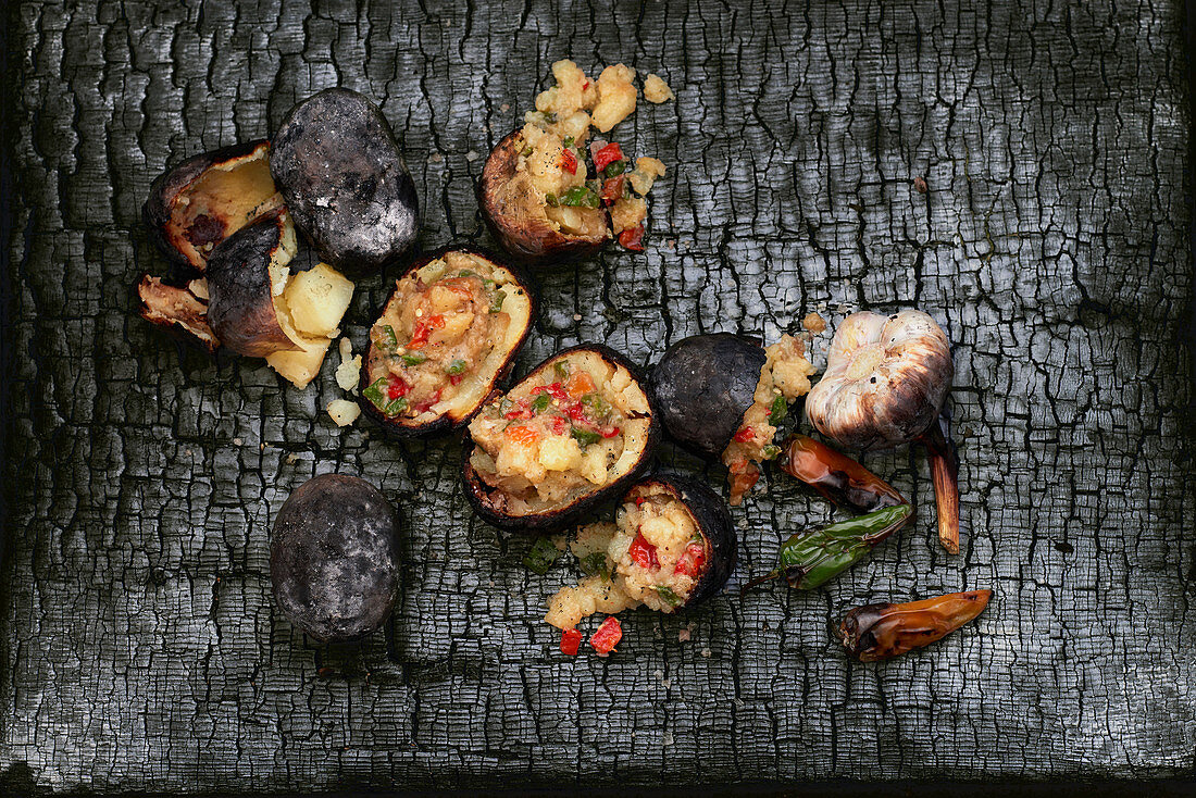 Potatoes from the coals