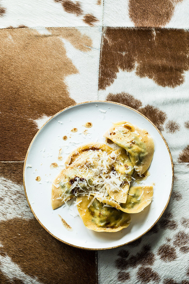 South Tyrolean ravioli filled with spinach