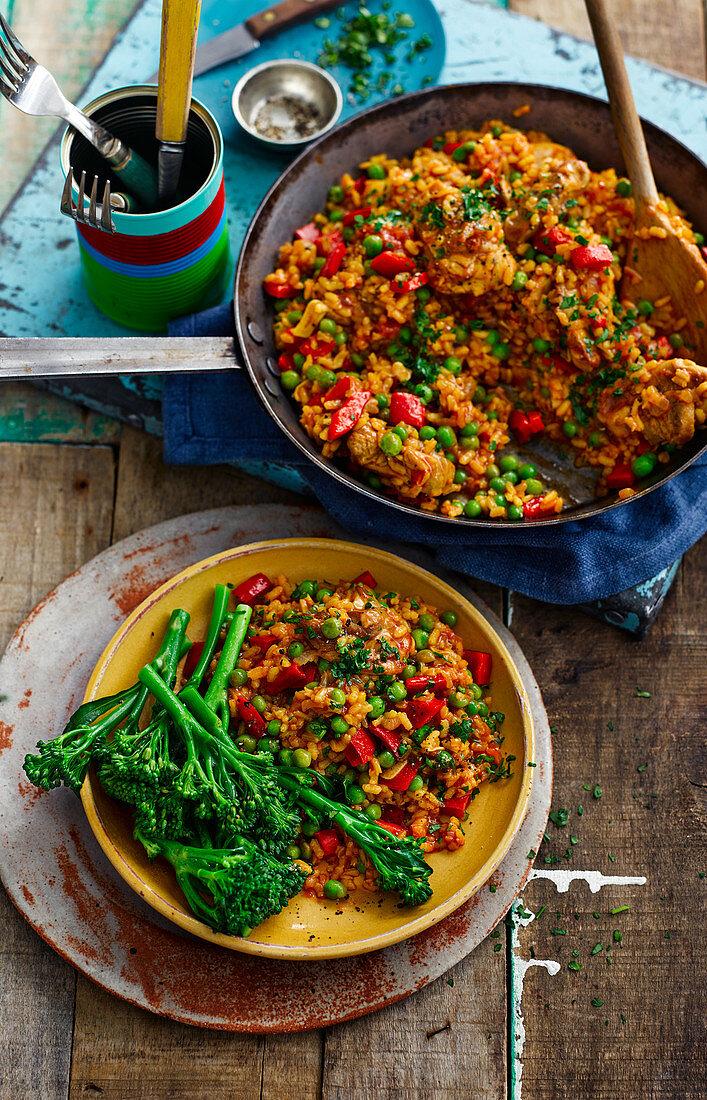 Galinhada (rice stew with chicken, Brazil)