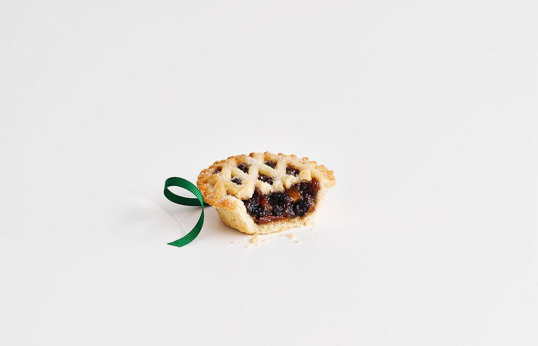 Lattice topped mince pie