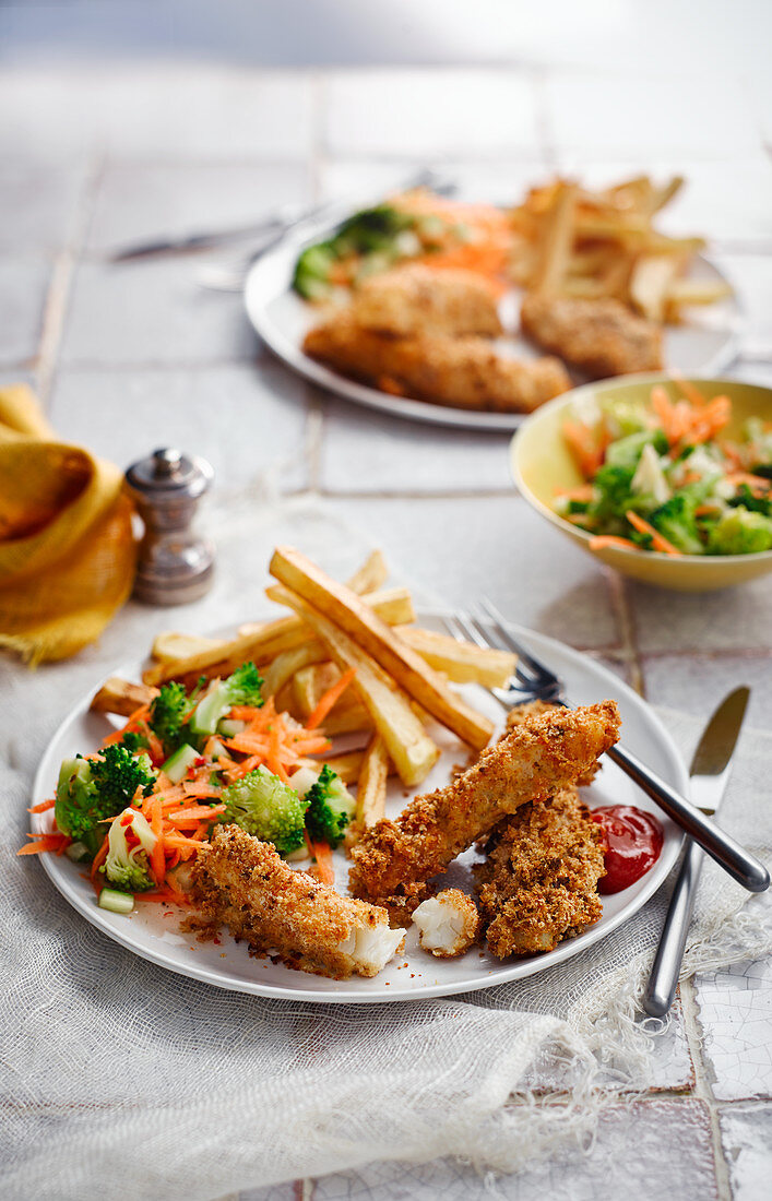 Fish Fingers with Chips