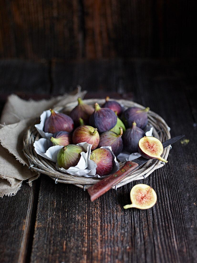 Fresh figs in a basket
