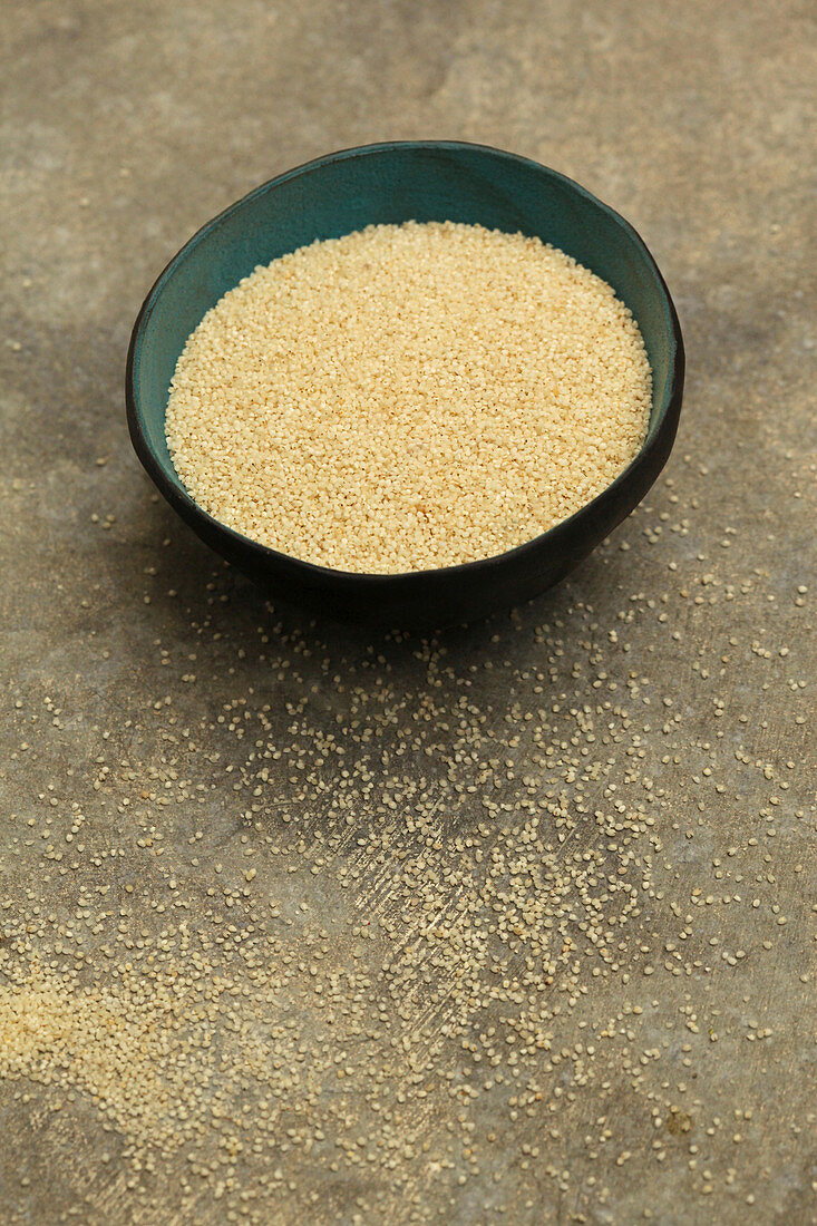 Fonio with loose grains