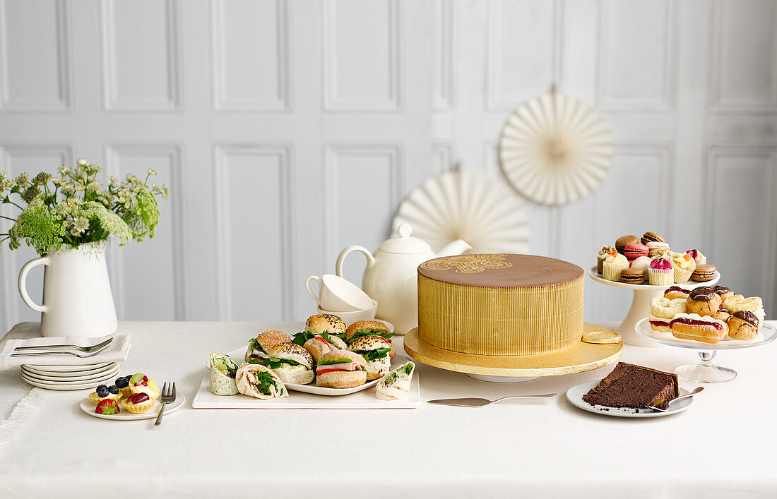 Afternoon Tea with sandwiches and cake
