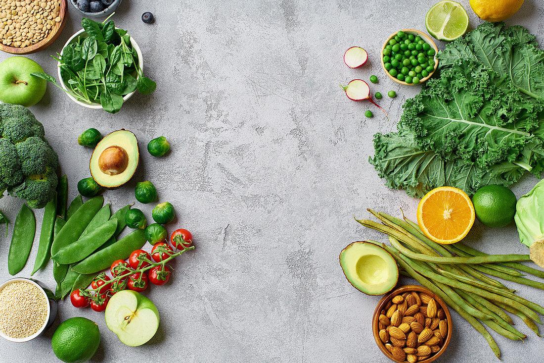Healthy vegetarian food ingredients