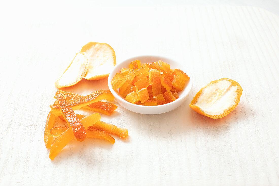 Homemade orange juice made from organic bitter oranges