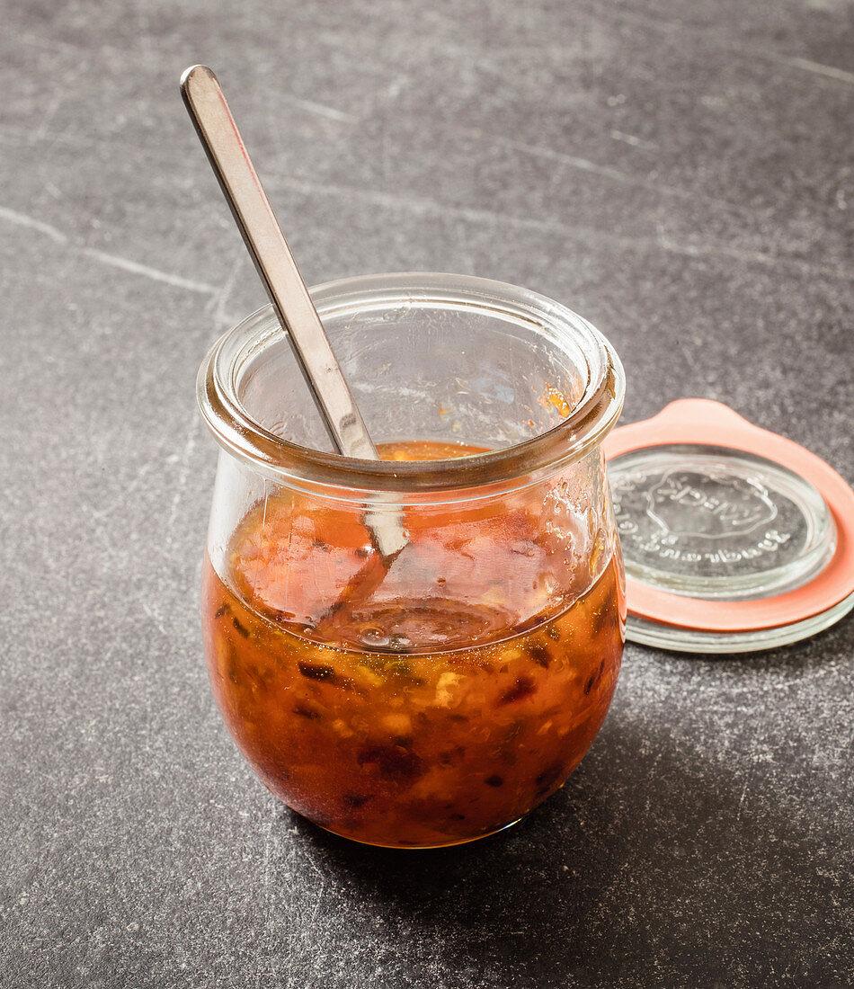 Orange chipotle jam