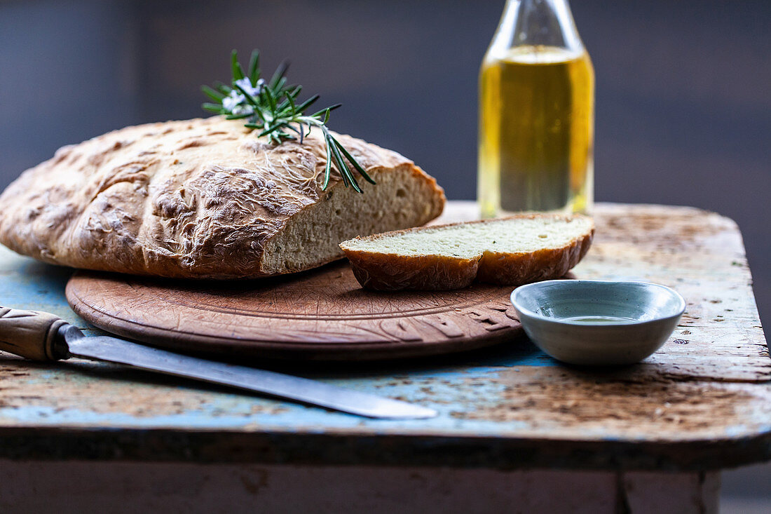 Soda bread with chickpea flour