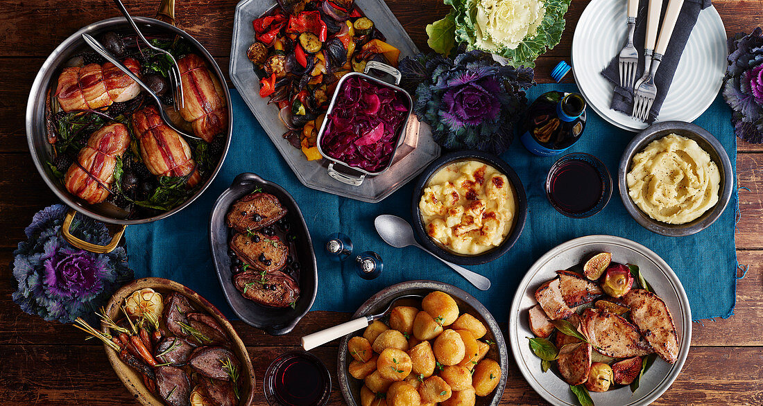 Roast game with side dishes